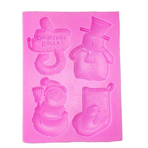 Camff vormen voor kerstdecoratie, om zelf te maken, sokken, sneeuwpop en paraplu, met siliconen vormen
