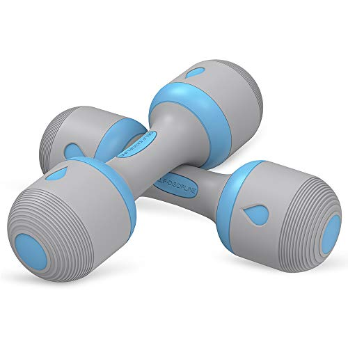 Adjustable Dumbbells Weight Set, 5 in 1 Weights 2.3~11lbs Single Adjustable Dumbbell Pair for Men and Women with Anti-Slip Handle, All-Purpose, Home, Gym, Office Workout Fitness. 22 lbs(11lbs x 2)