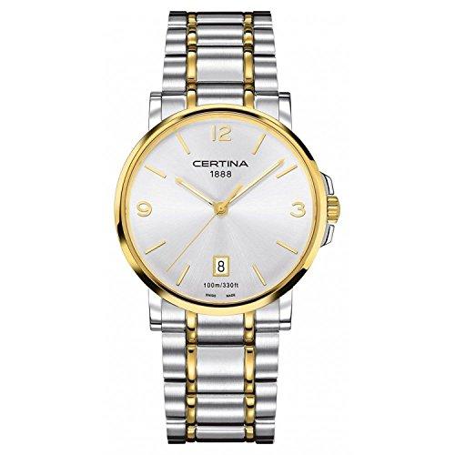 Certina 0 - Reloj de Cuarzo para Hombre, con Correa de Acero Inoxidable, Color Multicolor