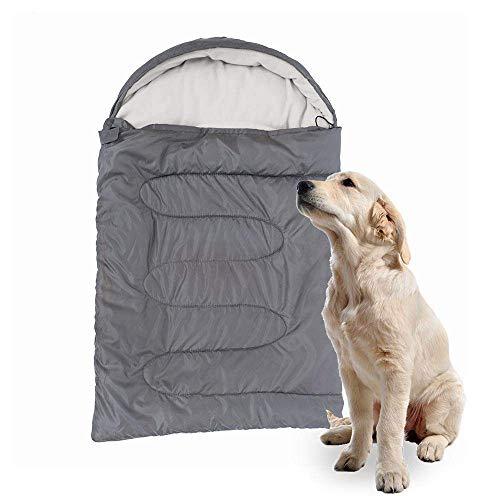 CHUNSHENN Pet Beds, Dog Beds Dog Sleeping Bag Soft Fleece Winter Warm Pet Sleeping Beds Polar Fleece Material Puppy Sofa Cushion House Kennel Waterproof Gray Cat Beds