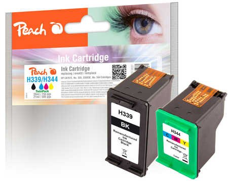 Paquete Combinado de Peach Compatible con HP C8767E, No. 339, C9363E, No. 344