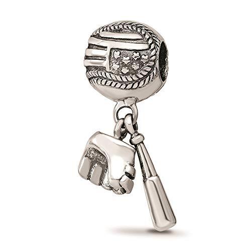 925 Sterling Silver Charm For Bracelet Baseball Glove Bat Dangle Bead Sport Fine Jewelry For Women Gifts For Her