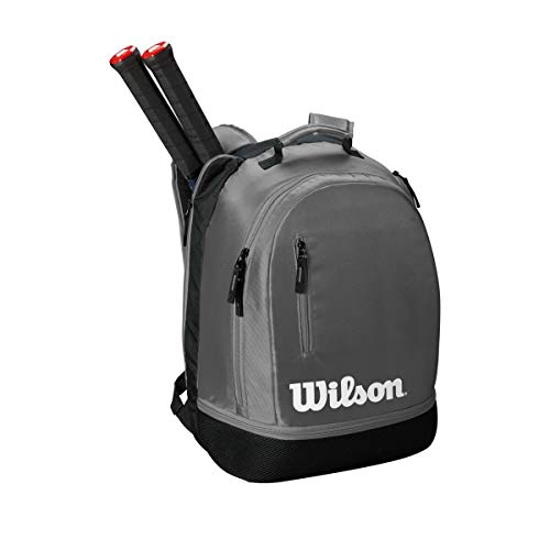 WILSON Unisex– Erwachsene Team Backpack Tennis Bag, Grau, 2 Schläger
