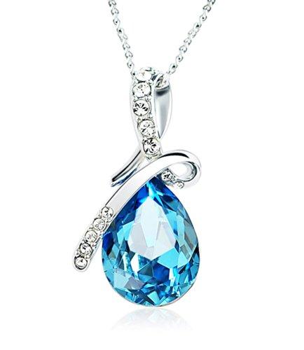 Celebrity Jewellery gota de Swarovski Elementos Agua regalo del día de Cristal Cristal Collar del amor de San Valentín