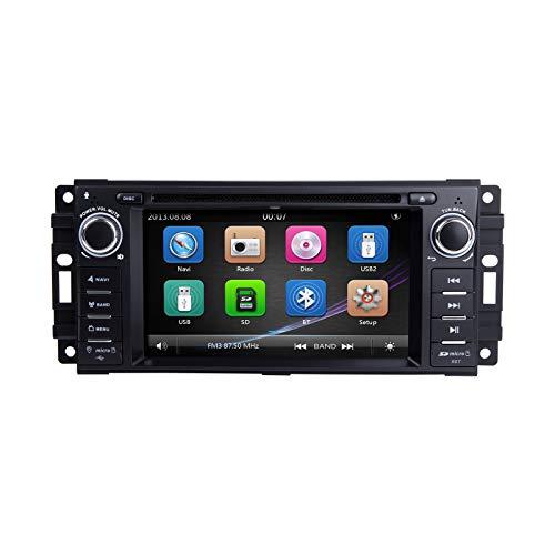 """Autoradio, ZLTOOPAI per Dodge Ram Challenger Jeep Wrangler unità principale da 6,2""""capacitivo schermo multi-touch GPS radio con mappa gratuita carta vista posteriore fotocamera strumenti di smontaggio"""