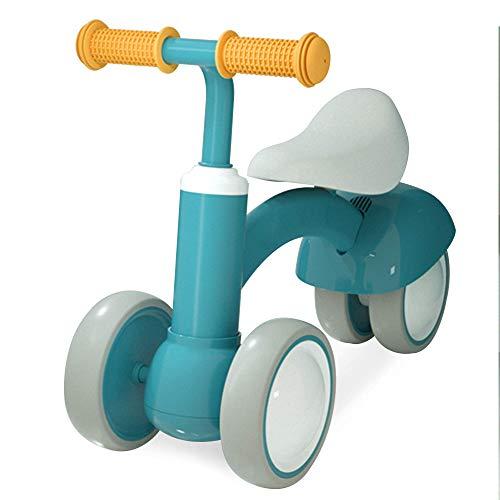 Richgv Bicicleta sin Pedales para niños Triciclo Bicicleta de Equilibrio Baby Safe Ride Juguetes para niños Primera Bicicleta Regalo de cumpleaños para niños pequeños 1-3 años 10-36 Meses (Verde)