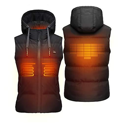 DEWBU verwarmd vest voor dames met 7.4 V accu, vrij, verwarmd vest