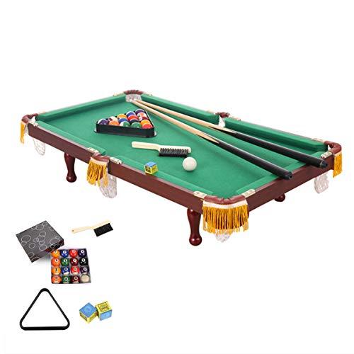 Huishoudelijke Pooltafel Voor Kinderen, Indoor Minigames Pooltafel Met 2 Keu, 1 Driehoek, 1 Borstel, 1 Set Ballen En 2 Krijt, Geweldig Cadeau Voor Jongens En Meisjes,0.6M