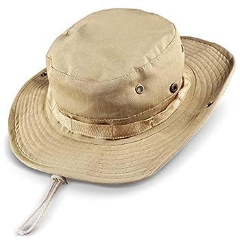 kolumb Wide Brim Boonie Hat Men & Women Top Camo Bucket Hats for Safari Military Beach…