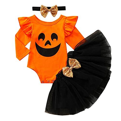 Geagodelia Tenue d'Halloween pour bébé fille - Ensemble de...