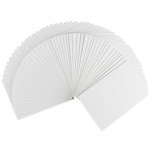 Klappkarten-Set blanko | 50 Faltkarten | Karten zum Selbstgestalten | ideal zum Basteln von Grußkarten & Einladungskarten | Din B6 (11,5cm x 16,5cm) | 230 g/m² | weiß | 50 Stück