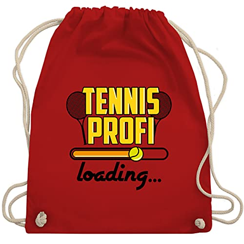 Shirtracer Tennis - Tennis Profi Loading - schwarz - Unisize - Rot - tennis profi loading - WM110 - Turnbeutel und Stoffbeutel aus Baumwolle