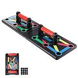 Powstro Push Up Rack Board, 9 en 1, multifunción de fitness plegable, tabla de musculación en casa, marco de entrenamiento push-up portátil para abdominales, músculos, ejercicio de hombres y mujeres