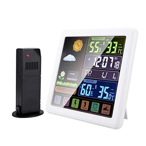 William-Lee Estación meteorológica con pantalla táctil con sensor de pronóstico meteorológico