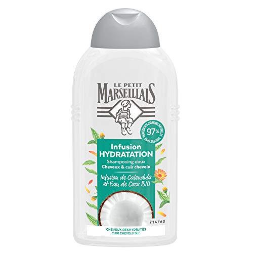 Le Petit Marseillais Shampooing Hydratation Infusion Calendula Et Eau De Coco
