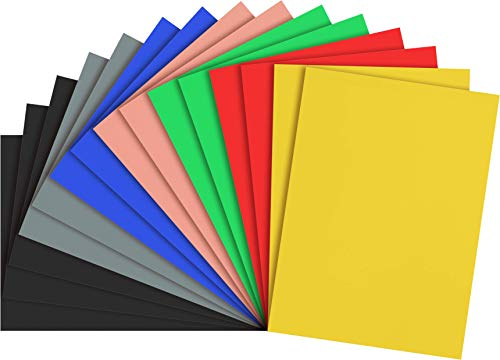 Excelsis Design, Pack of 15, Foam Boards, 20x30 Inches, Assortment Colors (More Colors Available) 3/16 Inch Thick Mat, (Acid-Free Foam Core Backing Boards, Double-Sided Sheets)