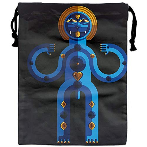 RP Amazing Sacs avec Cordon de Serrage Symbole païen SPI-Ritual Cult Theme Pochettes Modernis Sacks Sacks Bag for Adult Outdoor Gym,30x40cm