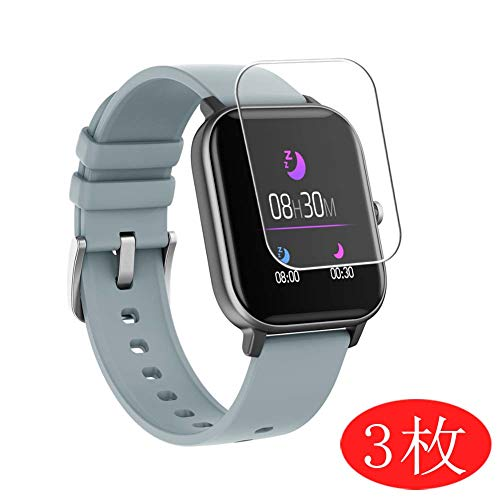 VacFun 3 Piezas HD Claro Protector de Pantalla Compatible con Smartwatch Smart Watch COLMI P8, Screen Protector Sin Burbujas Película Protectora (Not Cristal Templado) New Version