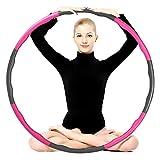 EterCycle Hula Hoop, Fitness Hula Hoop lastrado 1 kg 8 secciones Plicing desmontable ajustable Fitness Ejercicio Hula Hoops para niños y adultos