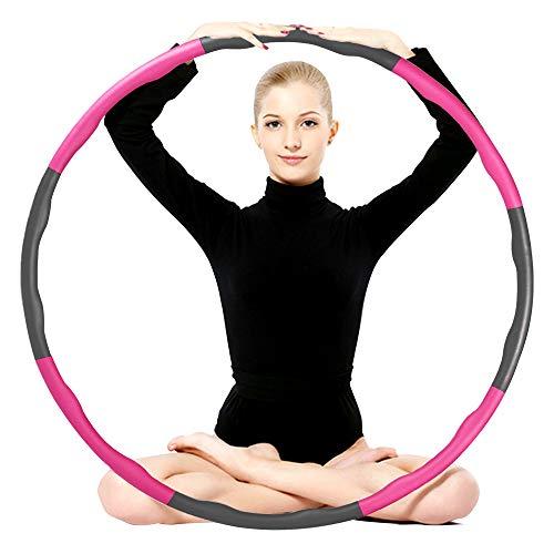 Etercycle Fitnesskreis Reifen, Hoops Hula zur Gewichtsreduktion und Massage Verwendet Werden KöNnen, Abnehmbare Schaumbeschichtung Einstellbares Hula für Kinder und Erwachsene Hoop, ca 1 kg