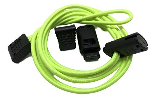 McLaces Schnürsenkel mit Schnell-Verschluss Flexy-Stop-Laces, Triathlon Schnürsenkel (neon-gelb)