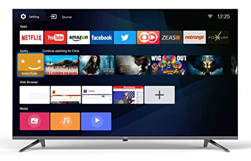 coocaa 40S3N 40 Zoll Full HD Smart LED Fernseher (101 cm), Triple Tuner, Prime Video, Netflix, YouTube (HDMI, CI-Slot, USB, digital Audio), black