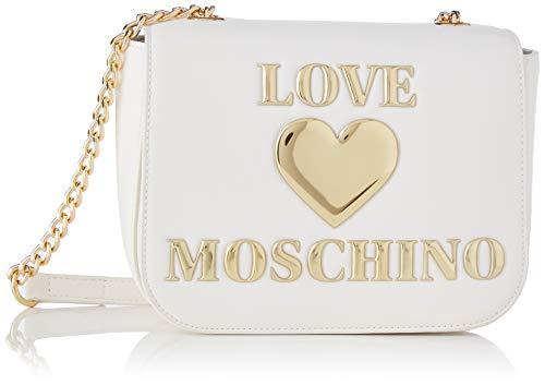 Love Moschino Precollezione SS21 | Borsa a Tracolla PU da Donna, Spalla, Bianco, Normal