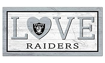 Fan Creations NFL Las Vegas Raiders Unisex Oakland Raiders Love Sign Team Color 6 x 12