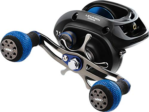 Daiwa LEXA-WN300HS-P Lexa Type WN Casting Reel, 300, 7.1: Gear Ratio, 32.40' Retrieve Rate, 22 lb Max Drag, Right Hand, Clam