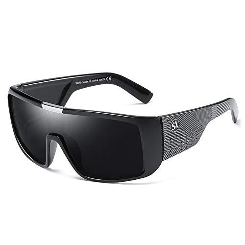 Sxuefang Gafas de Sol para Hombre Dragon Sport Goggle para Hombre DiseñAdor de DiseñAdor Escudo A Prueba de Viento Marco de PláStico Lente UV400