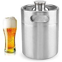 Mini barril de cerveza de acero inoxidable, cerveza de acero inoxidable Homebrew Barrel con tapa en espiral tapa cerveza Craft barril portátil para el hogar suministros de Hotel(5L)