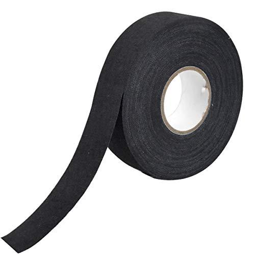 WEONE Schläger Tape, 25 Meters Verschleißfest Klebe Hockeyschläger Tape, Anti-Rutsch Schlägertape Eishockey Griffband (Schwarz)