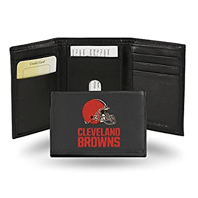 Rico Industries NFL Cleveland Browns Embroidered Leather Trifold Wallet