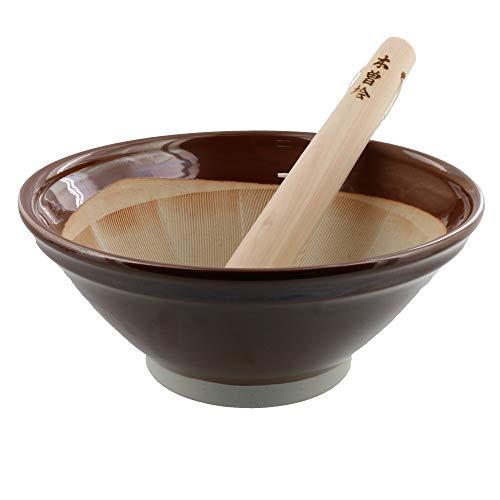 Zen Table Japan Traditioneller Mörser und Stößel (Suribachi & Surikogi) groß 21,6 cm – Hergestellt in Japan