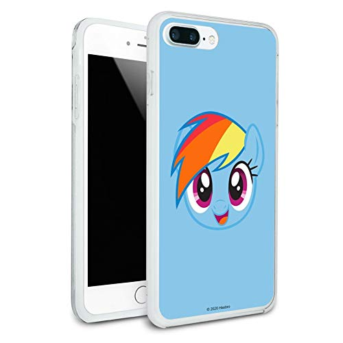 My Little Pony Rainbow Dash Face Protective Slim Fit Hybrid Rubber Bumper Case for Apple iPhone 7 and 7 Plus