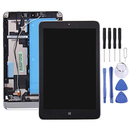 A+Xu Jie Pantalla LCD y ensamblaje Completo del digitalizador con Marco for Lenovo Miix 2 8 Pulgadas (Negro) (Color : Black)