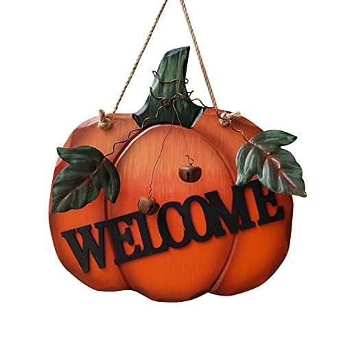 dfgh Decoración creativa de calabaza para colgar en la pared, decoración de puerta de otoño, Acción de Gracias, Halloween