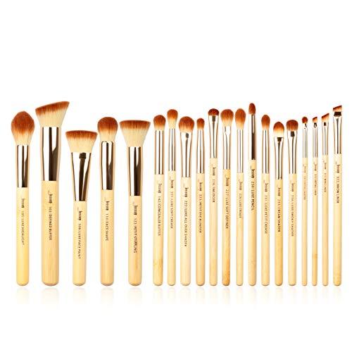 Set de 20 brochas de maquillaje profesionales de bambú de belleza marca Jessup, kit de herramientas de maquillaje, brochas para polvo de maquillaje y sombreador de ojos T145