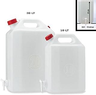 Bidón de polietileno con 10 L con grifo de Plastime de agua botellas de vino