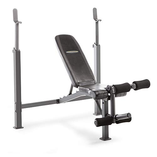 Marcy Competitor Adjustable Olympic Weight Bench with Leg Developer...