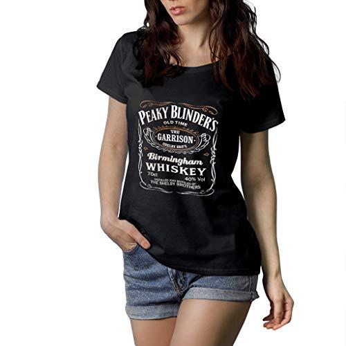 Fanta Universe Peaky Blinders - Camiseta Mujer - 100% Algodón (S, Negro)