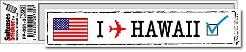 FP-031-03 フットプリント ステッカー/ハワイ(HAWAII) スーツケースステッカー 機材ケースにも! (白)