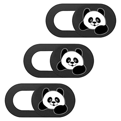 Mobestech 3Pcs Tampa Slide Bonito Panda Laptop Webcam Câmera Bloqueador Proteger Privacidade Deslizante Laptops Tablet Tampa Da Câmera Web