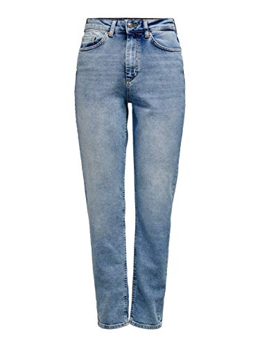 ONLY Damen ONLVENEDA Life MOM REA7452 Jeans, Light Blue Denim, S/32
