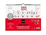 Finocam Calendario de Pared 2021 2022 Mes vista Septiembre 2021, Diciembre 2022 16 meses 340x245 Neutro 16 meses Español