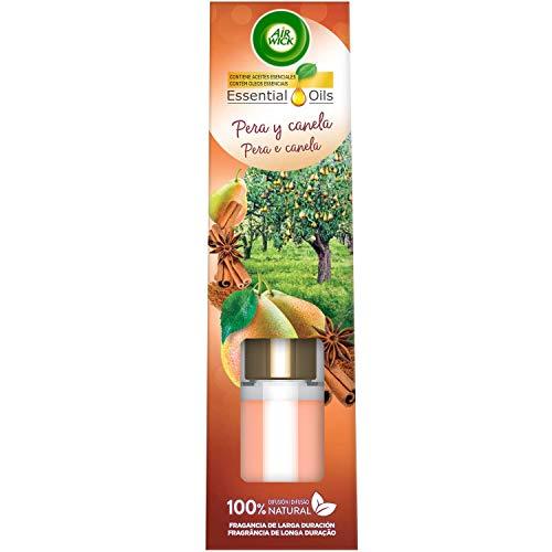 Air Wick Baguettes Parfumées - Désodorisant Mikados, Essence pour la maison au parfum de poire et de cannelle - 40 ml