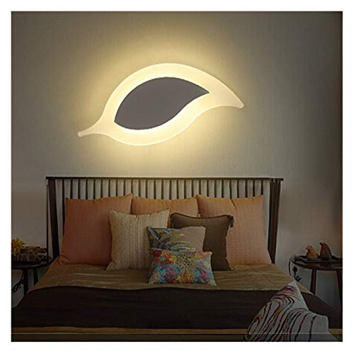 Wall lamp Wireless Indoor wall lamps bedroom living room channel Leaves creative nordic wall light modern Acrylic led wall lamp (Color Temperature : Warm white, Wattage : 8 12W)