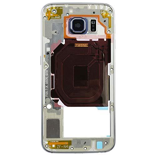 MMOBIEL LCD Cover Abdeckung Gehäuse Rahmen kompatibel mit Samsung Galaxy S6 G920 (Schwarz) inkl. Kamera Linse Cover und Power Knopf/Lautstärkeregler vormontiert