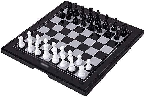 DJRH Conjunto de ajedrez Internacional de 11.4 'x 11.4' de 11.4 'x 11.4' con Placa de ajedrez Plegable para Principiantes, niños y Adultos
