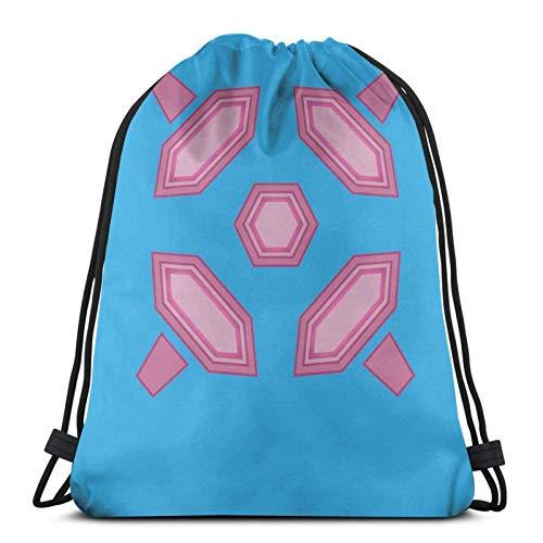 Hdadwy Zero Suit Back Design en Azul Claro Sport Bag Gym Sack Mochila con cordón para Compras en el Gimnasio